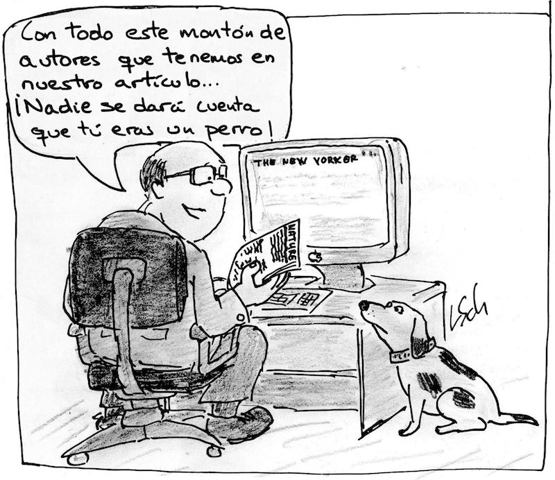 «Nadie se dará cuenta de que tú eras un perro». Imagen original de Leonid Schneider. Traducida a español por @aabrilru. CC BY-NC